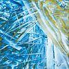 Encaustic Art blauw goud van Erica de Winter thumbnail