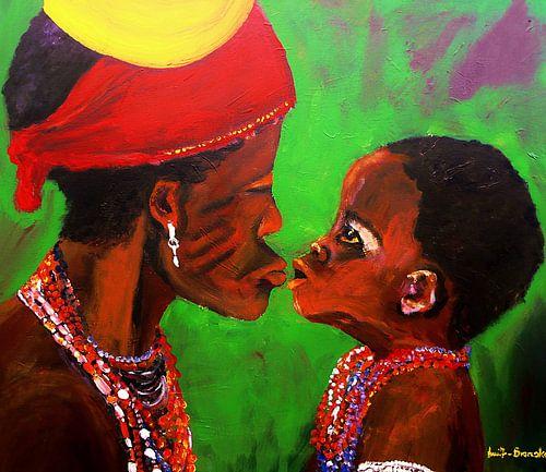 Afrikanische Mutter mit Kind von