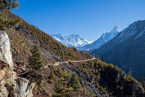 Trekking Nepal uitzicht Ama Dablam