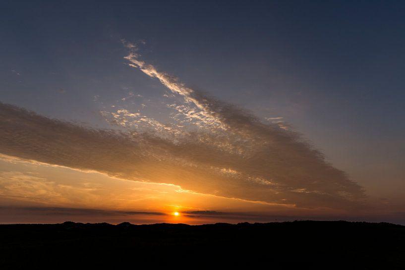 Sonnenuntergang auf Ameland von Sander de Jong