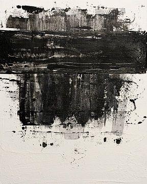 Abstrakt in Schwarz und Weiß von Joske Kempink