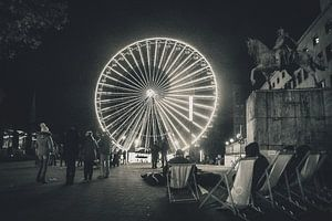 Rad van fortuin - Het reuzenrad in het centrum van Essen van Off World Jack
