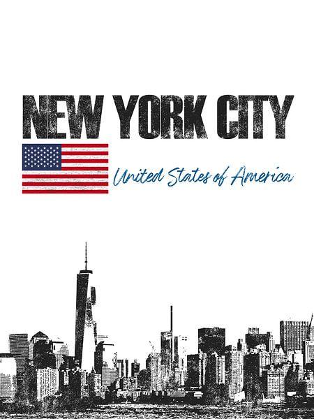 New York City Amerika van Printed Artings