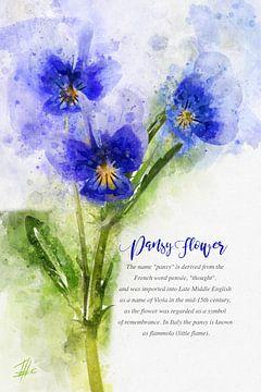 Blauwe Viool van Theodor Decker