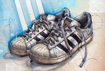 Adidas 'superstar' Gemälde von Jos Hoppenbrouwers