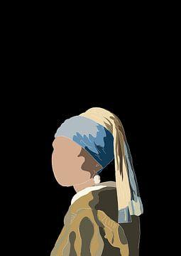 Meisje met de parel  - Meisje van Vermeer van Debora Van Eijk