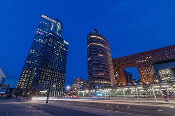 Nighttrails Rotterdam van AdV Photography
