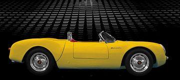 Porsche 550 Spyder in geel van aRi F. Huber