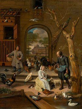 La basse-cour, Jan Steen