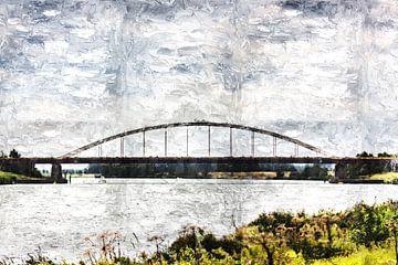 Die Slaakbrug zwischen De Heen und Sint-Philipsland (Brabant und Zeeland) (Kunst) von Art by Jeronimo