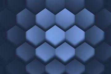 Orthokuben blau von Jörg Hausmann