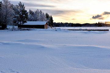 Coucher de soleil sur la Laponie sur Christer Andersson