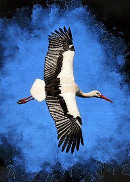 Storch Vogel Kunst #Storch von JBJart Justyna Jaszke