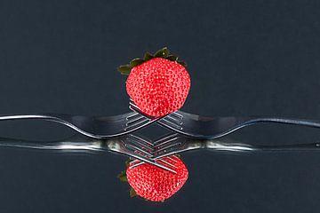 Aardbeien Duo  van Jo Miseré
