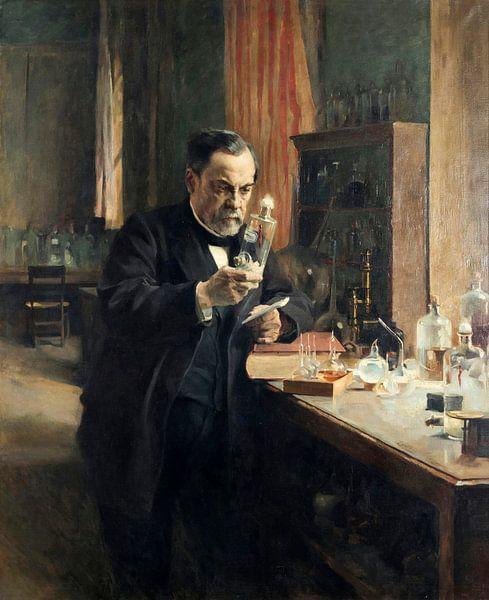 Louis Pasteur in seinem Laboratorium, Albert Edelfelt von Meesterlijcke Meesters