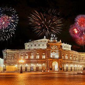 Dresden Feuerwerk von Einhorn Fotografie