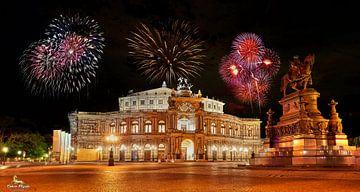 Dresden vuurwerk van Einhorn Fotografie