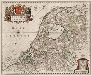 Kaart van Nederland van