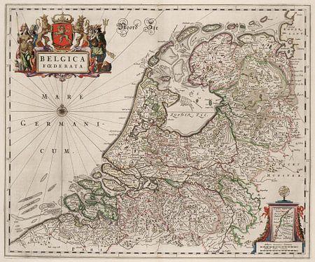 Kaart van Nederland van Marieke de Koning