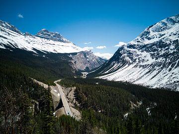De route door de Rocky Mountains