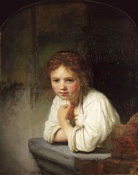 Mädchen im Fenster - Rembrandt van Rijn von
