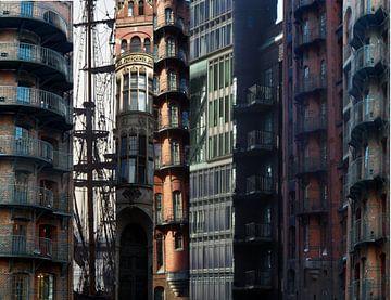 Fassadencollage van Peter Norden