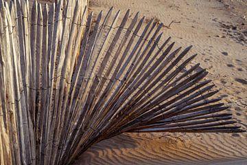 Houten hek in waaiervorm van Paul Zoetemeijer Fotografie