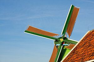 Closeup Nederlandse windmolen