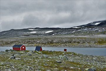 Fischerhütten in Norwegen von Naomi Elshoff