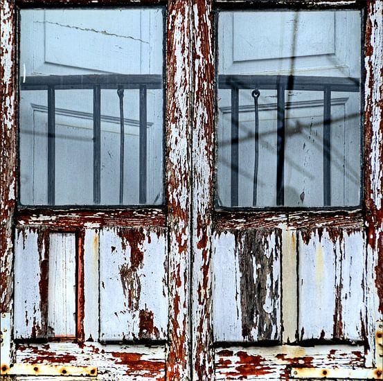 Detail van een venster van Sigrid Klop