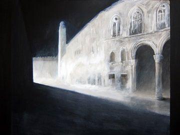 Dubrovnik nocturno van Mirso Bajramovic