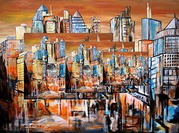 Skyline (stad) van Eberhard Schmidt-Dranske
