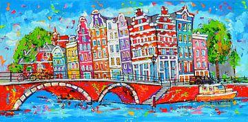 Amsterdam sur Vrolijk Schilderij