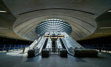 Ingang van het Canary Wharf metrostation van Michael Echteld