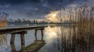 zonsondergang Haarlemmermeerse bos van Mike Asseler