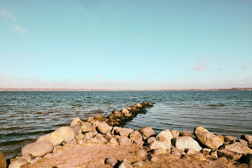 Buhne und Meer von Heiko Westphalen