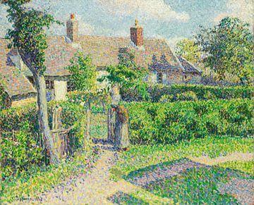 Maisons de paysans, Eragny, Camille Pissarro sur