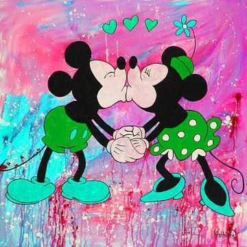 """Micky Maus und Minnie Maus """"Rose"""" von Kathleen Artist Fine Art"""