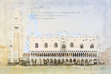Dogenpaleis, Venetië van Theodor Decker