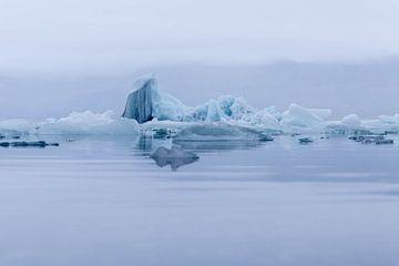 IJsschotsen in het Jökulsárlón gletsjer meer - IJsland van Lieke Dekkers