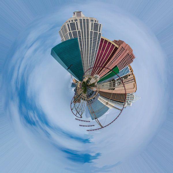 New York city, planeet compositie van Rietje Bulthuis