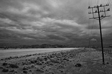 langs de weg in namibie van Ed Dorrestein