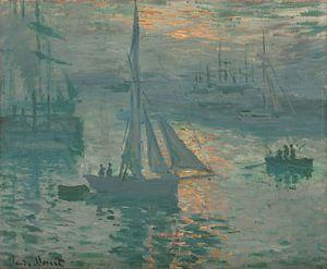 Opkomende zon van Claude Monet