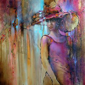 Laura mit Hut von Annette Schmucker
