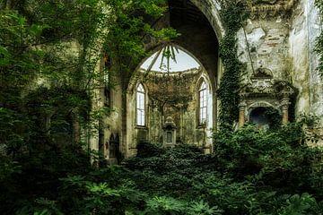 Überwachsene Kirche 1 von Kirsten Scholten