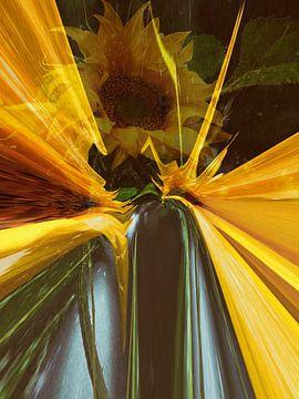 Sonnenblume  abstrakt van Christine Nöhmeier