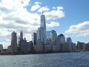 New York in witte wolken