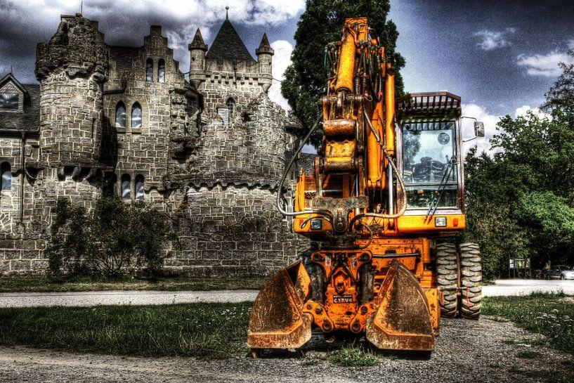 Bouwkraan voor kasteel van Jasper Scheffers