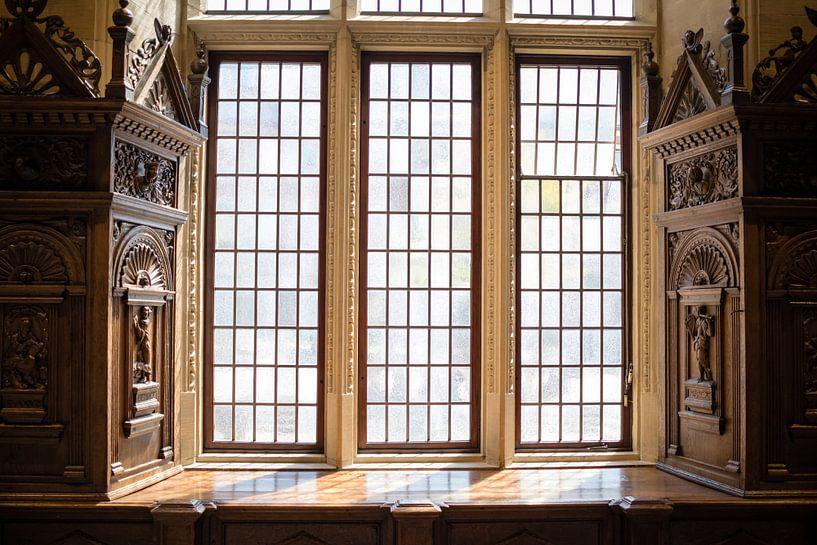 Ramen in het klassieke raadhuis van Münster, Duitsland von Marcel Alsemgeest