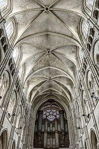 Detail van de kathedraal van Laon
